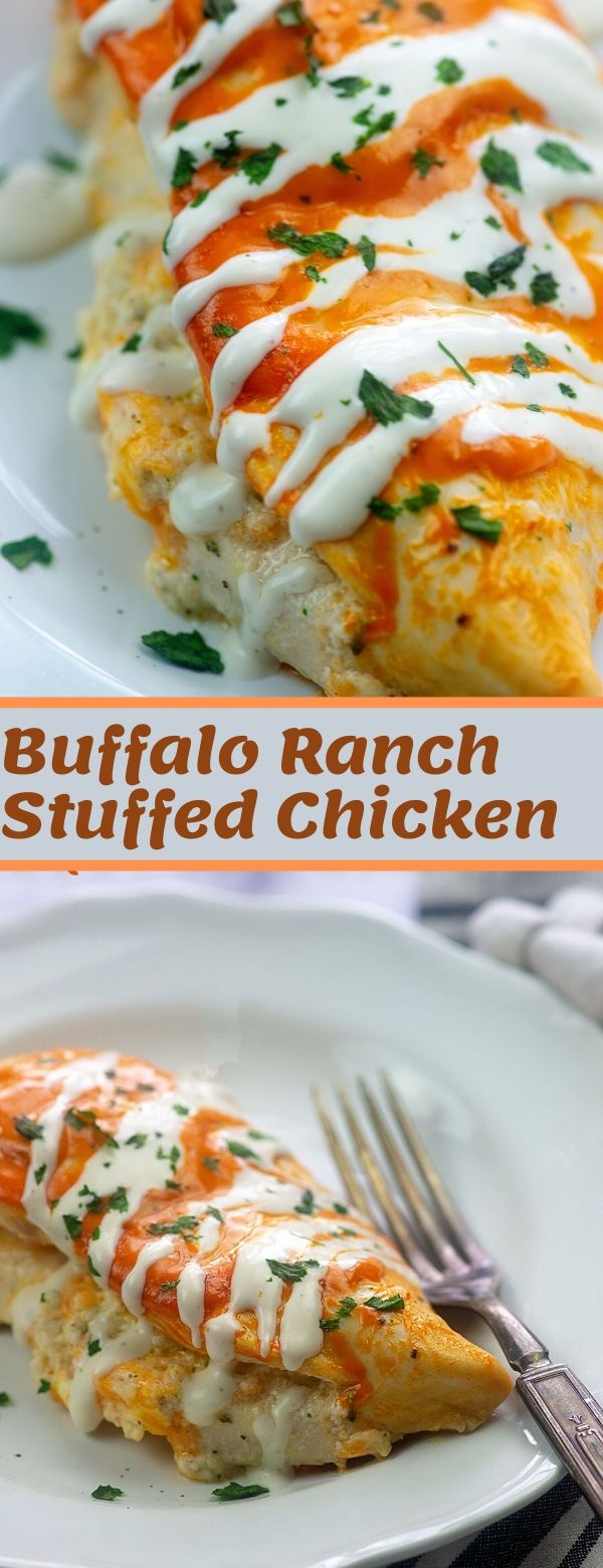 Buffalo Ranch Stuffed Chicken
