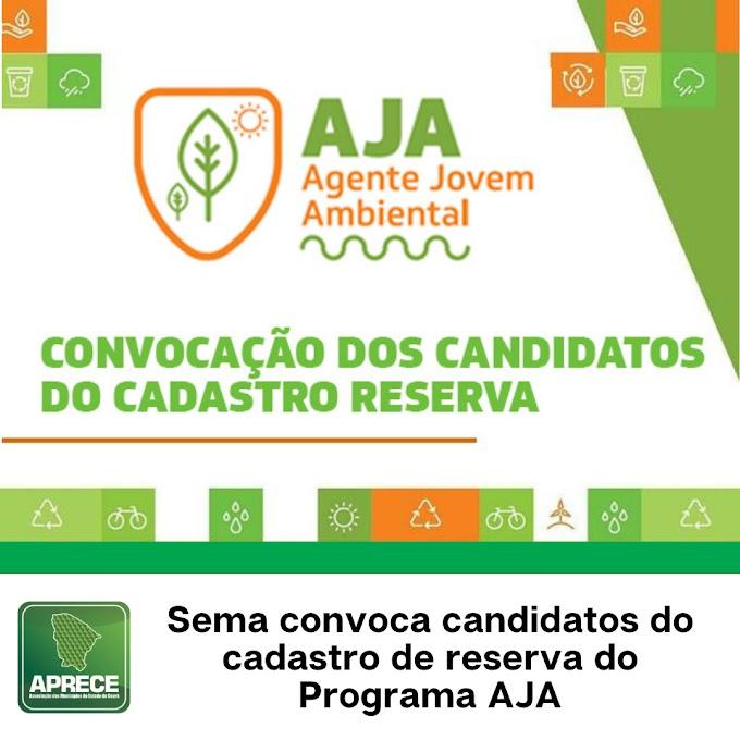 SEMA convoca candidatos do cadastro de reserva do Programa Agente Jovem Ambiental (AJA)