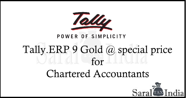 Tally.ERP 9 Gold at Discounted price for CA!
