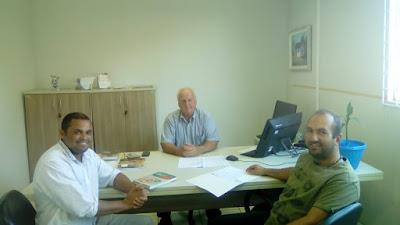 Fábio Fontana, esteve em reunião com o secretário de Agricultura e Abastecimento, Osmar Foggiatto e com e o diretor de abastecimento, Thiago Pereira para abordar assuntos relevantes ao processo de implantação da Feira Livre no bairro Quissisana.