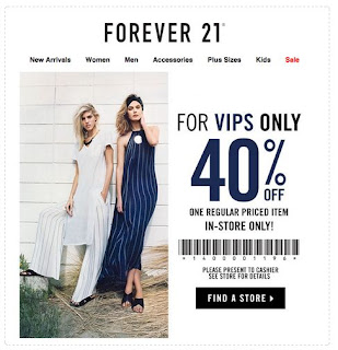 graphic about Forever 21 Printable Coupons named Endlessly 21 Printable Discount codes May possibly 2018 - Printable Coupon 2018