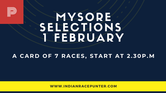 Mysore Race Selections 1 February