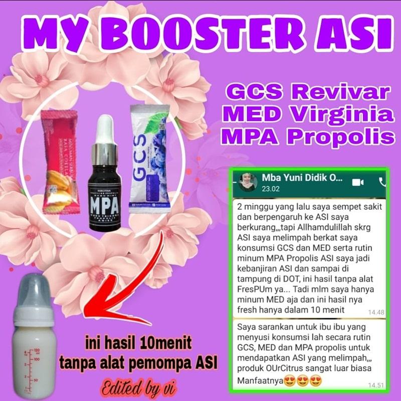 GCS revivar, MED virginia dan MPA Propolis Sangat efektif untuk Boster ASI