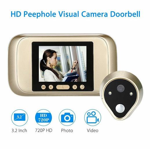 Spioncino digitale xm1 occhiello per porta con visore lcd - Spioncino porta con telecamera ...