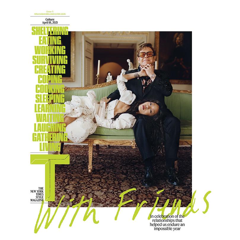Rina Sawayama on the cover of the New York Times with Elton John | Random J Pop