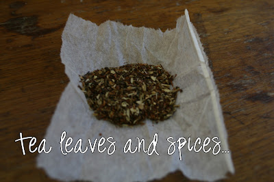 Tea leaves with spices