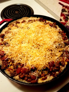 Cornbread style Tamale Pie, another easy oven dinner for those busy nights!