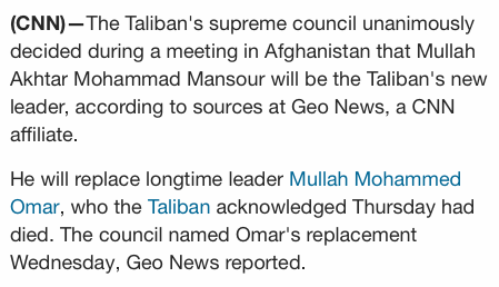 f750b199b79041 Yesterday it was announced the leader of the Taliban had been dead for  years. Then suddenly