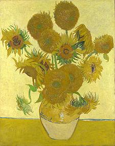 """Vase with fifteen Sunflowers"", Vincent van Gogh"