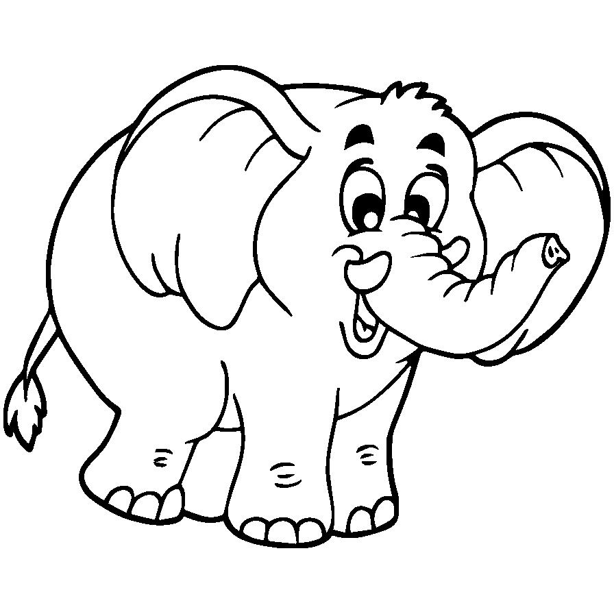 Mewarnai Gambar Gajah  Aneka Mewarnai