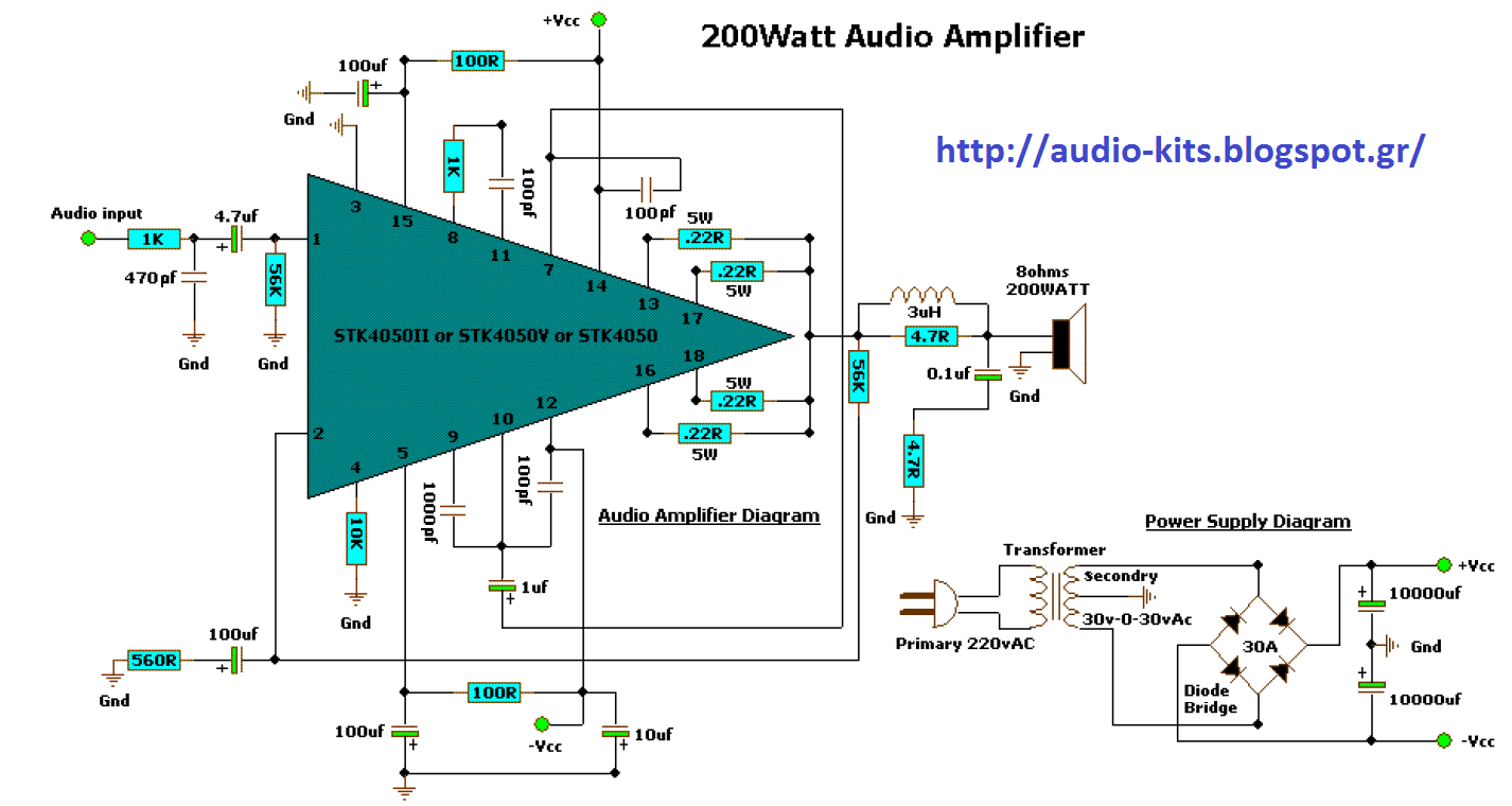 200 Watt Audio Amplifier Circuit Diagrams Wiring Library Scheme Collections Schematic With Explanation Kit Circuits