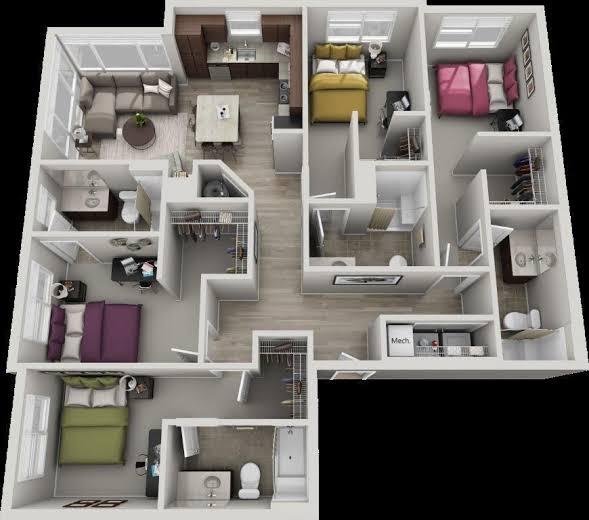 Five Bedroom House Plan Designs Home Design Ideas