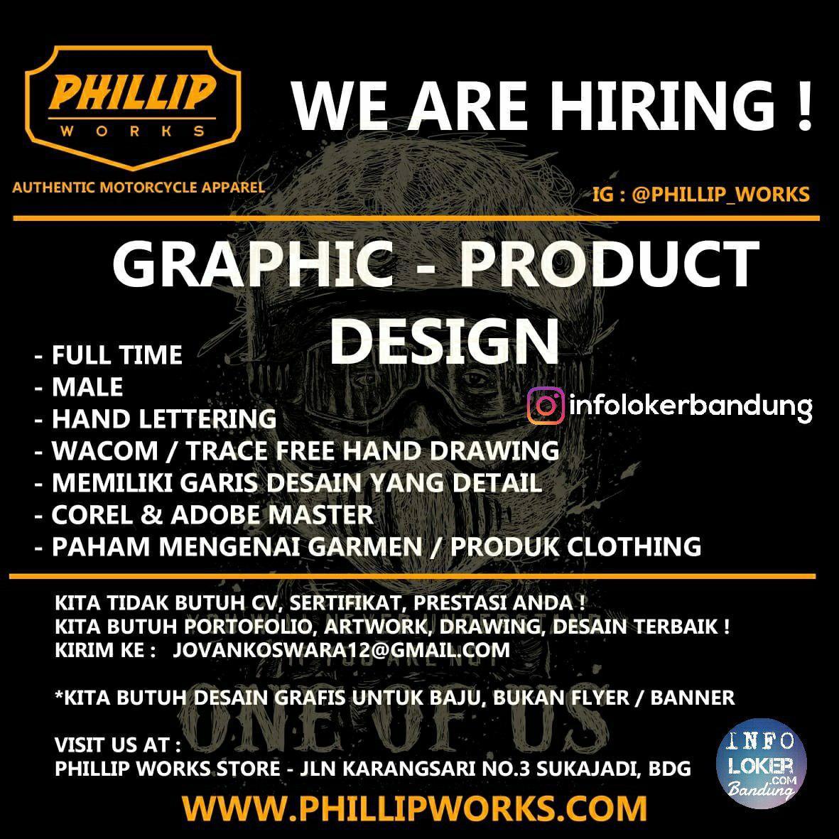 Lowongan Kerja Graphic Product Design Phillip Works Bandung