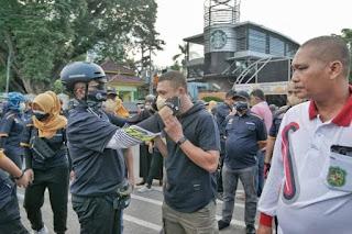 IKAPTK Bagikan Masker,  Pjs Wali Kota Medan Apresiasi sudah Turut Memutus Penyebaran Covid-19