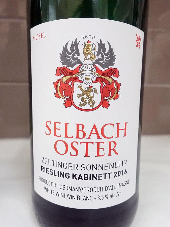 Zeltinger Sonnenuhr Riesling Kabinett 2016 (92 pts)