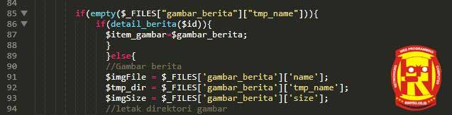 potongan script edit cms rimi