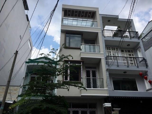 Bán nhà mặt tiền duong số Tân Quy: 4x19.5 tret+2 lầu, ST