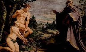 Deus conversando com Adão na virada do dia