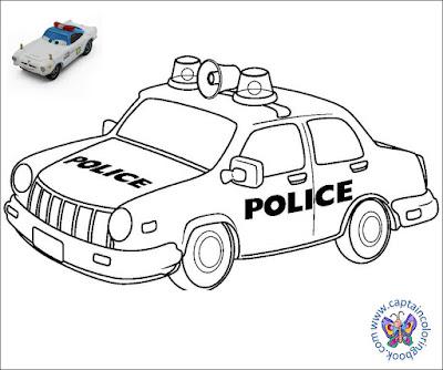 Kids Police Car Coloring