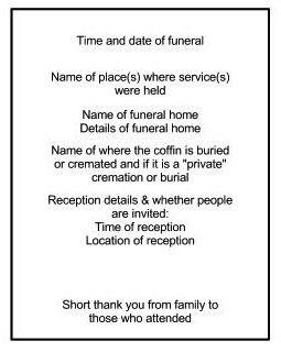 The Other Side Of Funerals Making An Order Service