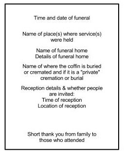 The Other Side Of Funerals: Making an Order of Service