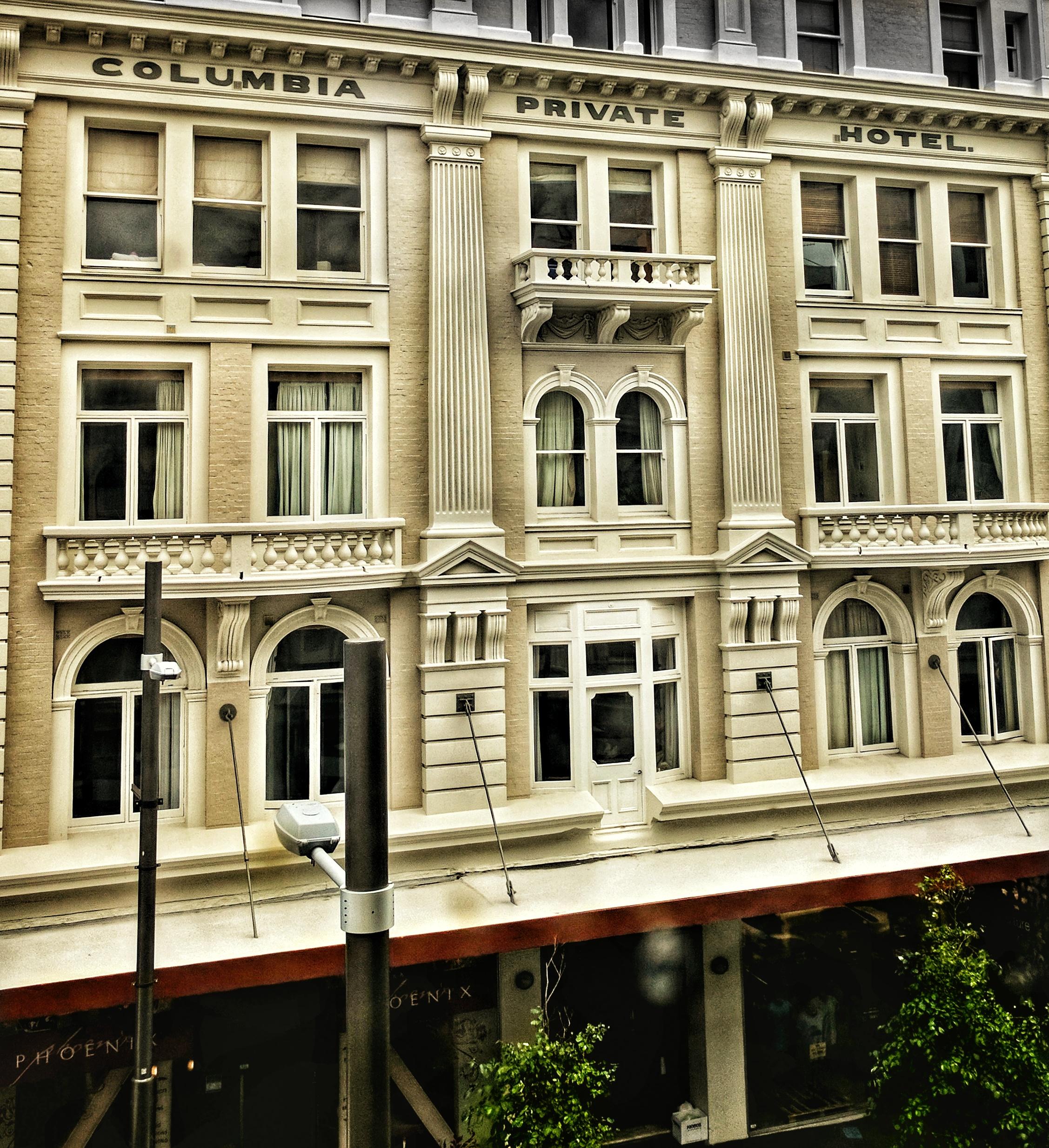 Columbia Private Hotel building, Cuba Street (Wellington, NZ)
