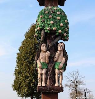 Krzyż w Droszewie, 1865, Adam i Ewa, Paweł Bryliński