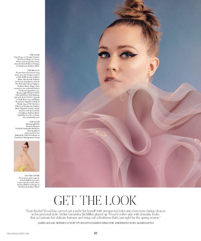 EVAN RACHEL WOOD in Vegas Magazine, March 2020
