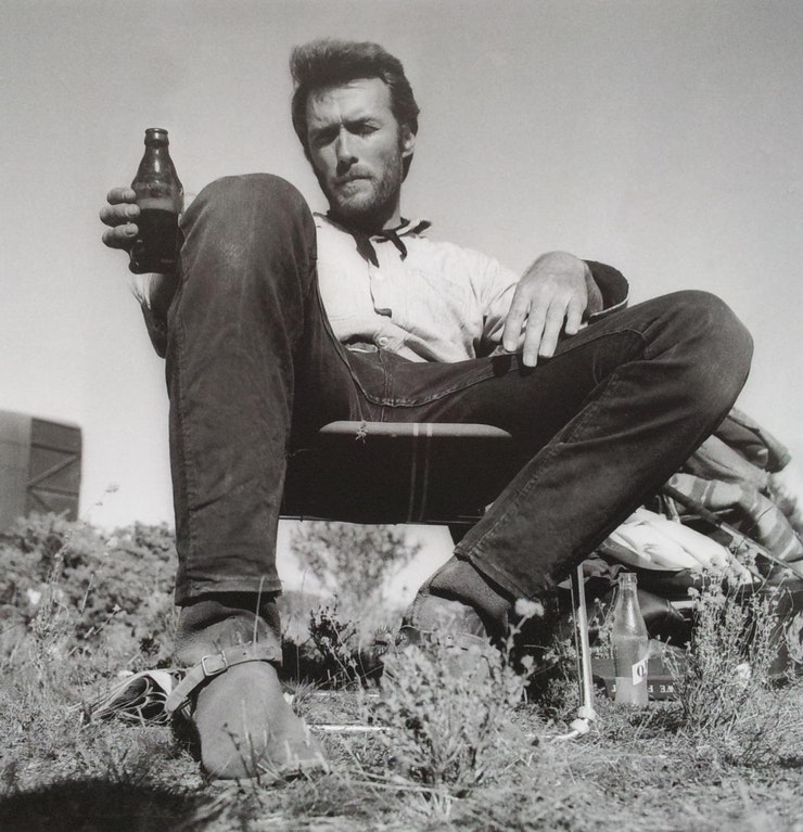1c585334b Clint Eastwood on the set of the Movie  The Good