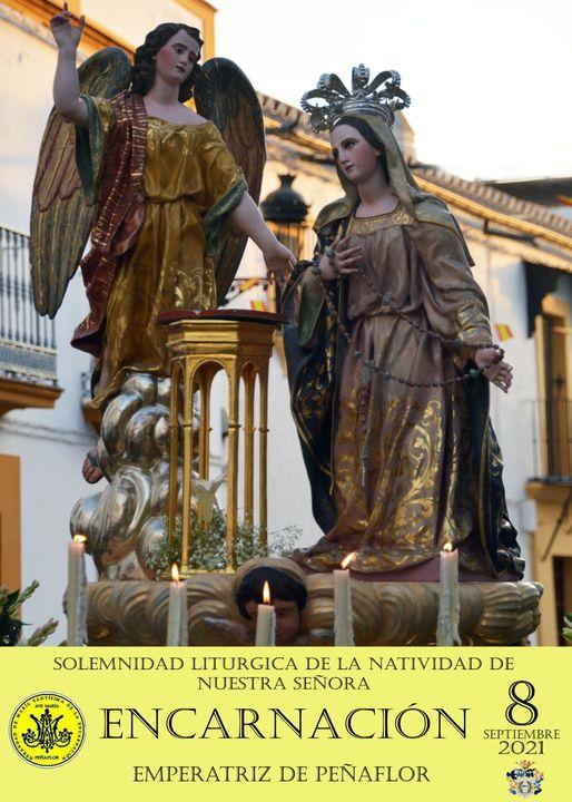 Cartel en Honor de la Virgen de la Encarnación de Peñaflor 2021