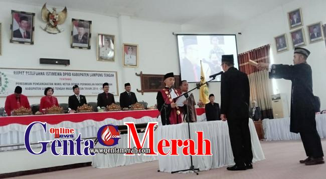 Natalis Diprodeokan KPK, Raden Sugiri Gantikan Wakil Ketua DPRD Lamteng