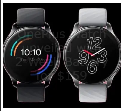 OnePlus Watch unveiled with 2-Week Battery for $159