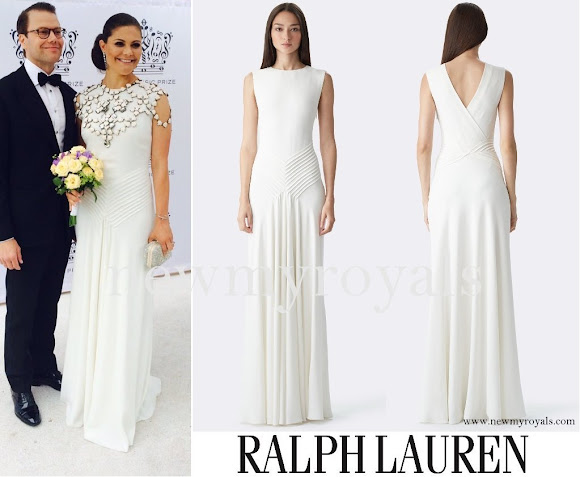 Princess Victoria wore Ralph Lauren Dora V-Back Gown