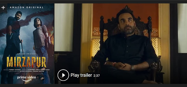 Play Mirzapur 2 (2018) Hindi Web Series Trailer online for free