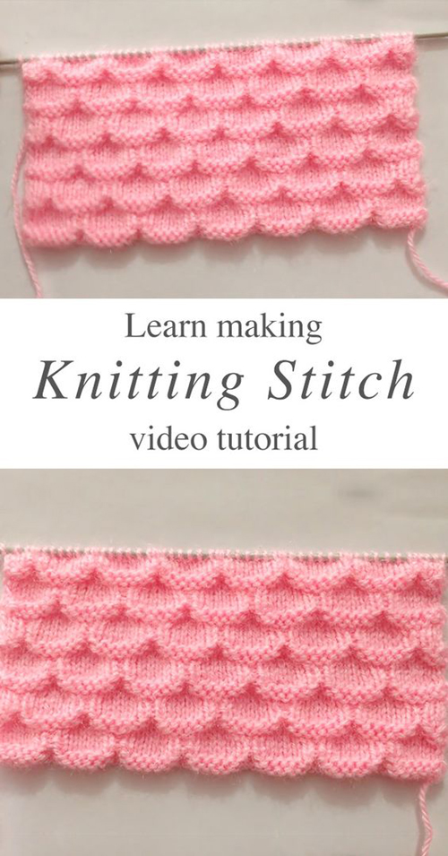 Simple Knitting Stitch - Tutorial