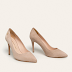 Pantofi dama stiletto eleganti bej piele naturala firma Trussardi Jeans