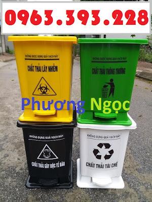 Thùng rác y tế 15 Lít đạp chân, thùng phân loại rác y tế,thùng đựng rác y tế 15L TR%25C4%2590C15L4