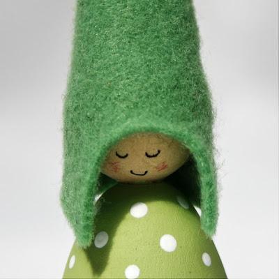 Green spots Cornish Pixie Elf