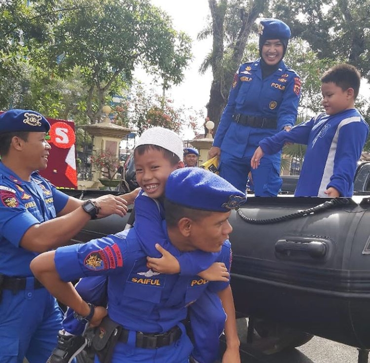 Anak-Anak TK Islam Terpadu Ahmad Dahlan Begitu Ceria Dan Gembira Saat Kunjungi Polda Jambi