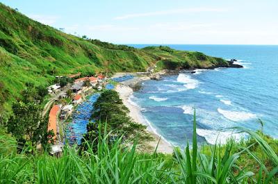 Pantai Menganti Jawa Tengah Kebumen, bisa kemah. Biaya camping pantai menganti