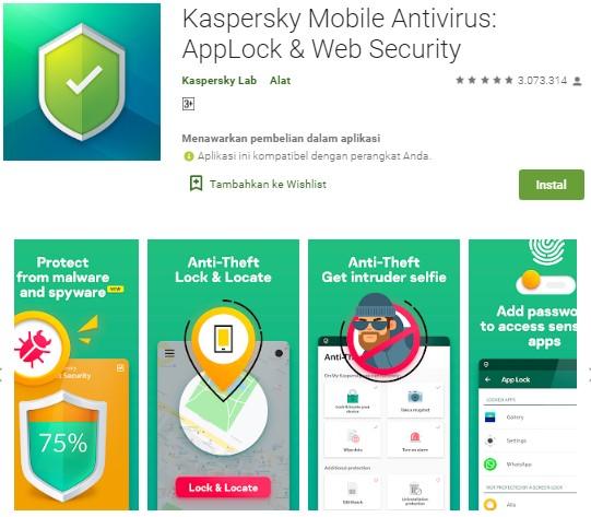 Antivirus Terbaik Untuk Android - Kaspersky Mobile Antivirus