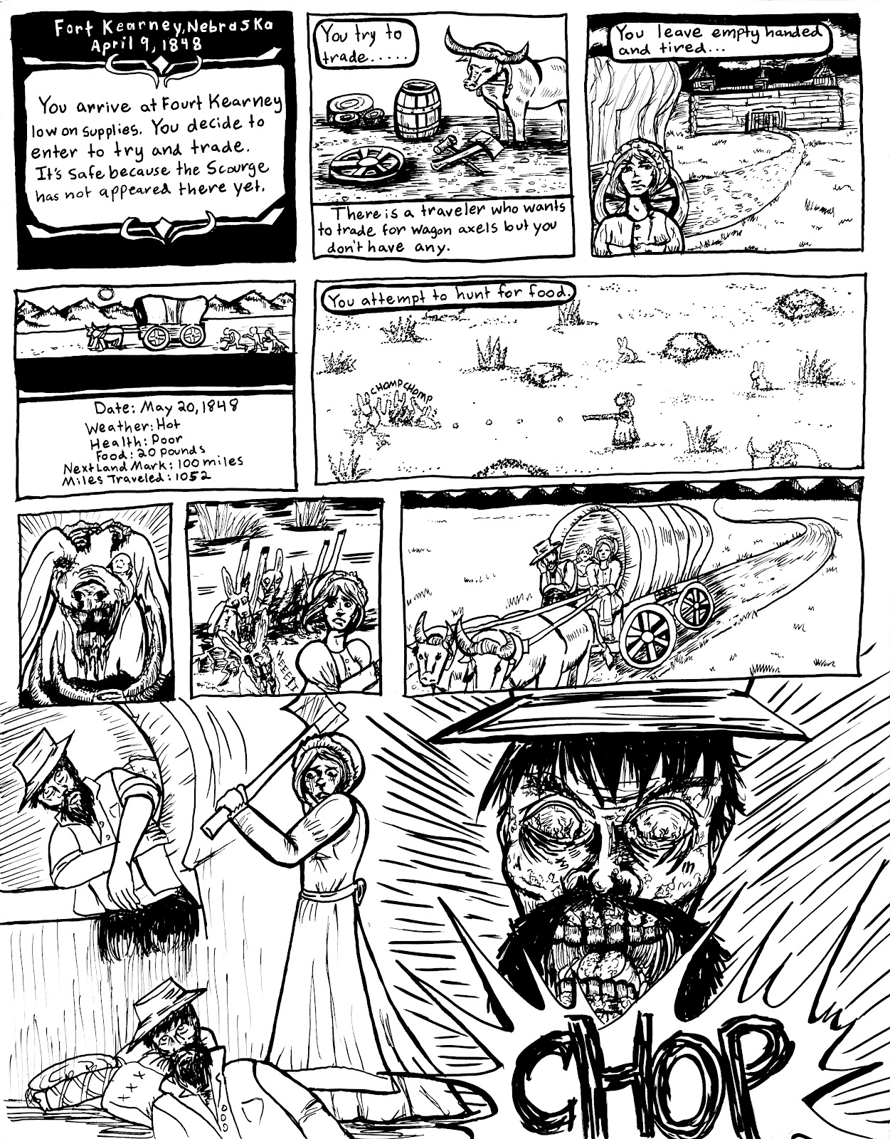 a study in making oregon trail zombie comic