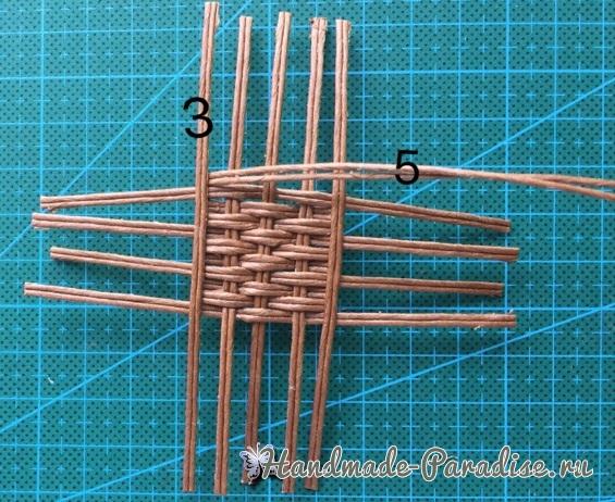 Плетение сумки из проволоки для куклы (4)