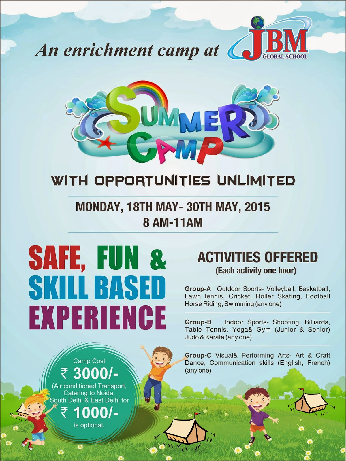 Noida Diary Summer Camps For Kids At Noida Schools In