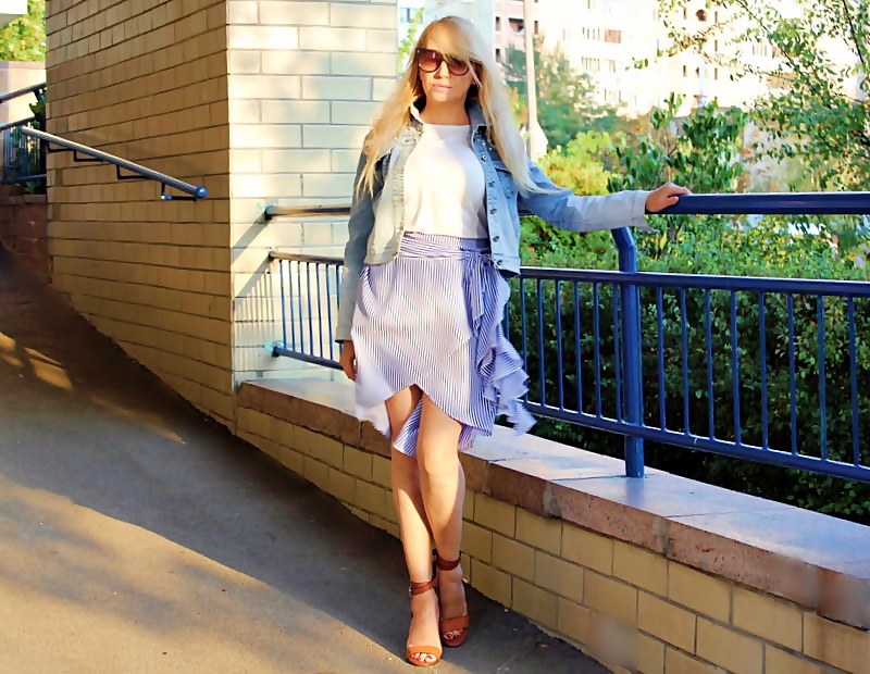 ROSEGAL Haul: Striped Asymmetric Skirt. Асимметричная юбка в полоску / обзор, отзывы, фото