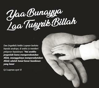Wasiat Luqman, Laa Tusyrik Billah