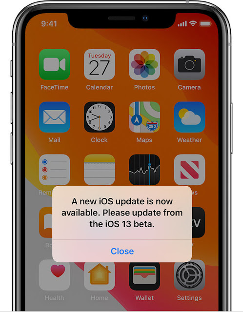 Update when the alert says a new iOS update is now available for your iPhone phone. If you see this alert, it means the iOS beta version on your device expires and you need to update.