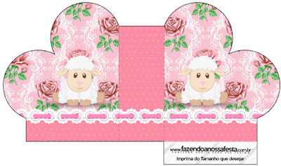 Lamb in Shabby Chic: Free Printable Boxes.