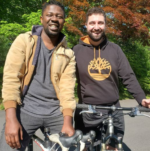 Nigerian  gay rights activist, Edafe Okporo, and his lover, Nick, gets engaged (Photos)