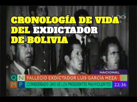 CRONOLOGÍA DE LA VIDA DEL EXDICTADOR LUIS GARCÍA MEZA TEJADA
